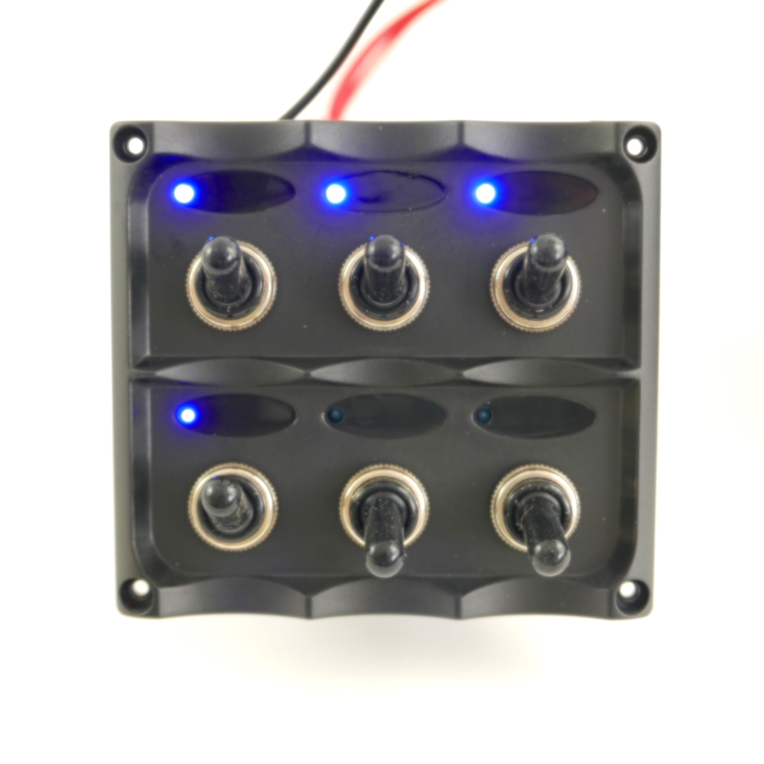12v Switch Panel With Toggle Switch  5 Gang   Power Socket