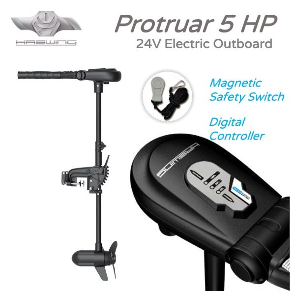 Protruar 5HP Electric Outboard with Safety Key