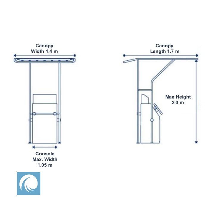 Canopy Bimini for Centre Console Power Boats Heavy Duty Deck Mount T-Top