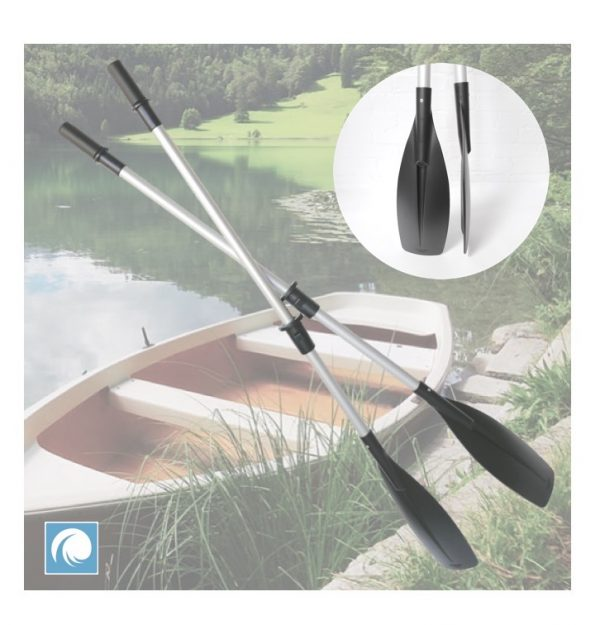 A Pair of heavy duty sturdy anodised aluminium oars for dinghy boats