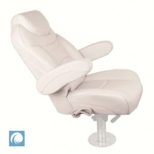 Premium Reclining Helm Chair for Yachts Caravans - Ivory Colour